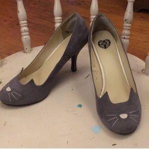 Gray Sophisticated Kitty heels by T.U.K.